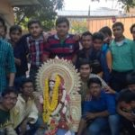 Students on saraswati puja