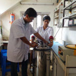 Autoclave, handled by the students
