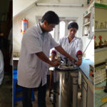 Students handling autoclave, microbial culture & clinical diagnostic work.